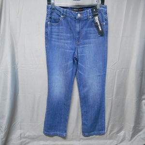 NWOT Express straight crop high rise jeans 4